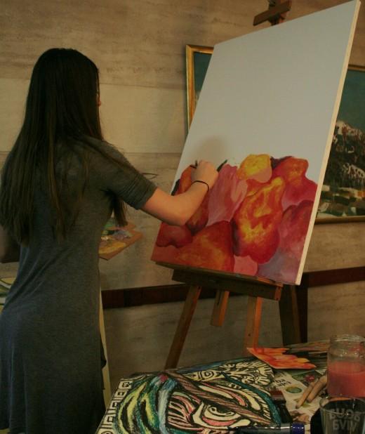 Milica in studio