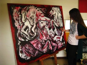 Making of ,,Four horses of the apocalypse
